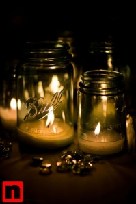 Tealights-in-mason-jars